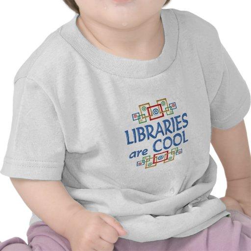 Bibliotecas frescas camiseta