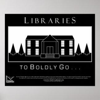 Bibliotecas, ir audazmente póster