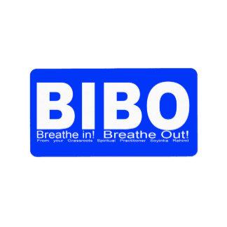 BIBO Sticker Address Label