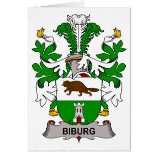 Biburg Family Crest Card
