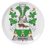 Biburg Family Crest Party Plates