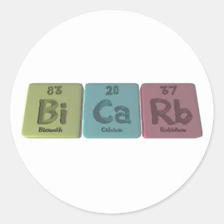 Bicarb-Bi-Ca-Rb-Bismuth-Calcium-Rubidium.png Classic Round Sticker