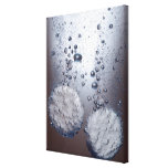 Bicarbonate of soda tablets in water canvas print