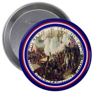 Bicentenario de New Orleans de la batalla leído Pin Redondo De 4 Pulgadas