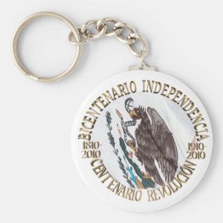 Bicentenario y Centenario Celebracion Llavero Redondo Tipo Pin