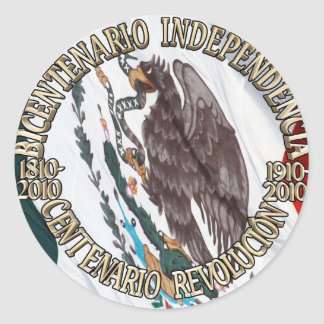 Bicentenario y Centenario Celebracion Classic Round Sticker