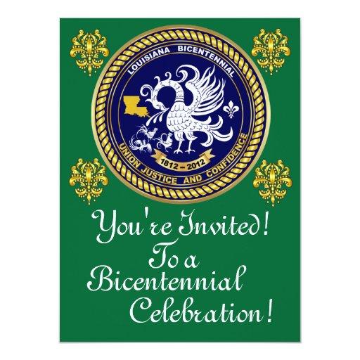 "Bicentennial 6.5"" x 8.75""  Important Notes Below 6.5x8.75 Paper Invitation Card"