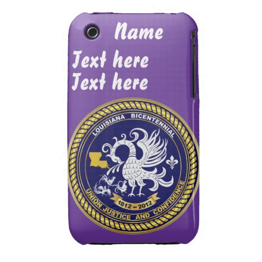 Bicentennial Louisiana 30 Colors See Notes Case-Mate iPhone 3 Cases