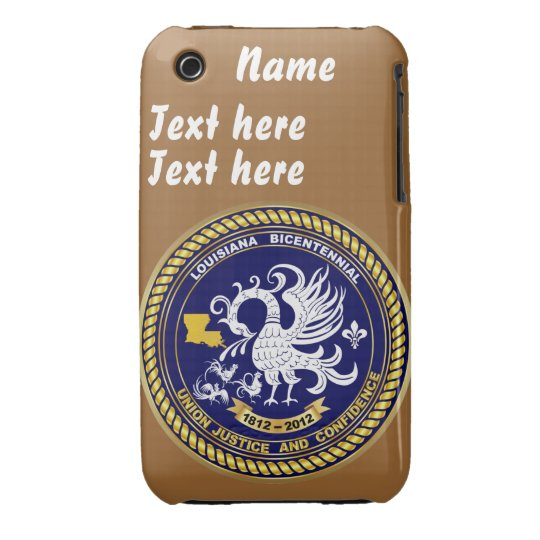 Bicentennial Louisiana 30 Colors See Notes Case-Mate iPhone 3 Case