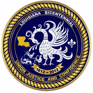 Bicentennial Louisiana Mardi Gras Party Pin Photo Sculptures