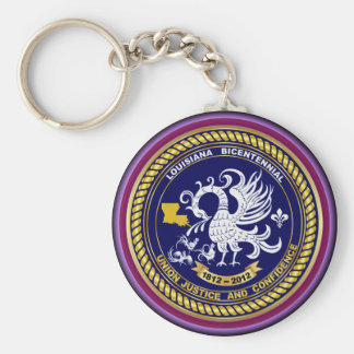 Bicentennial Louisiana Mardi Gras Party See Notes Basic Round Button Keychain