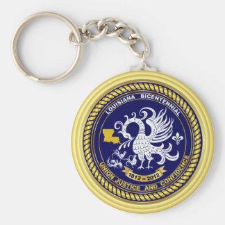 Bicentennial Louisiana Mardi Gras Party See Notes Basic Round Button Keychain