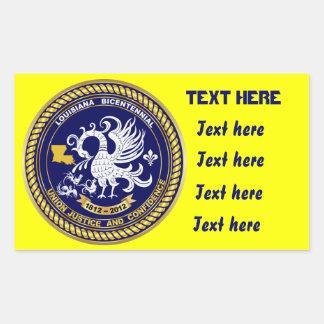Bicentennial Louisiana Mardi Gras Party See Notes Rectangular Sticker