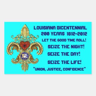 Bicentennial Louisiana Sticker Rect colors