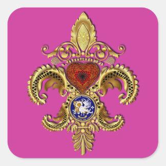 Bicentennial  Louisiana's Statehood Square Sticker