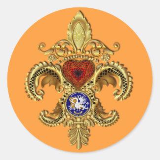 Bicentennial Sticker Rnd Over 50 Colors
