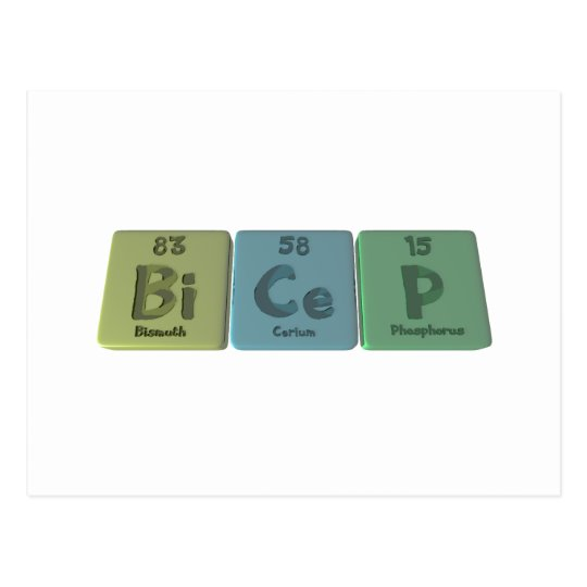Bicep-Bi-Ce-P-Bismuth-Cerium-Phosphorus Postcard