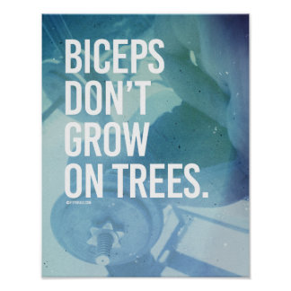 Biceps don't grow on trees -   Guy Fitness -.png Poster