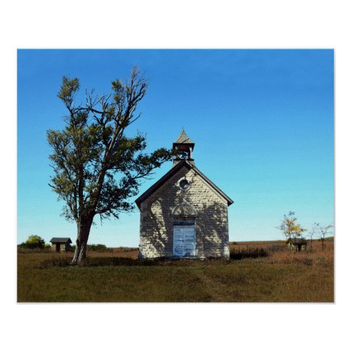 Bichet One-Room School House, Kansas Poster