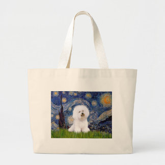 Bichon 1 - Starry Night Canvas Bag