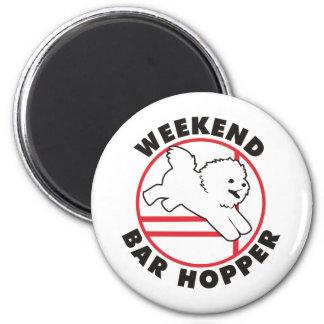 Bichon Agility Weekend Bar Hopper Refrigerator Magnet