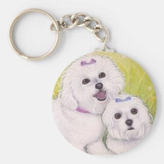 Bichon Babies key ring Key Chain