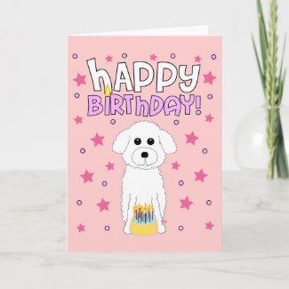 Bichon Birthday card