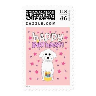 Bichon Birthday stamp