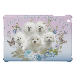 Case Savvy iPad Mini Glossy Finish Case with Bichon Frise Phone Cases design