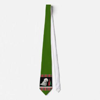 Bichon Christmas Tie
