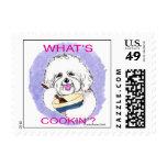 Bichon Cook Postage Stamp