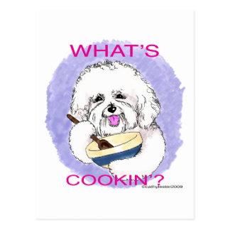 Bichon Cook Postcard