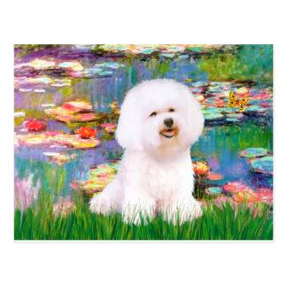 Bichon Frise 1 - Lilies 2 Postcard