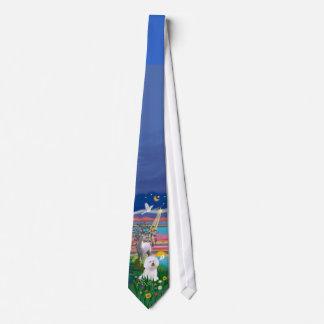 Bichon Frise 1 - noche mágica Corbata Personalizada