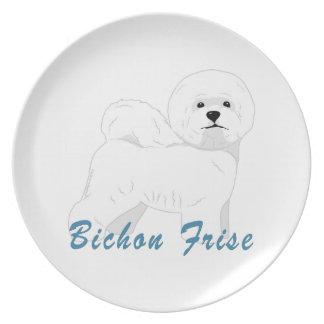 Bichon Frise 1 Dinner Plates