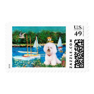 Bichon Frise 1 - Sailboats 1 Postage Stamps