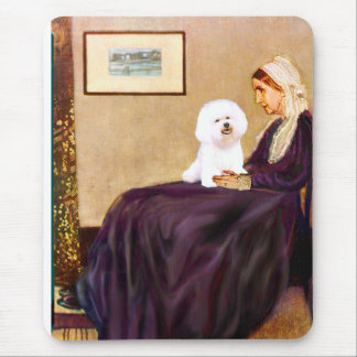 Bichon Frise 1 - Whistlers Mother Mouse Pad