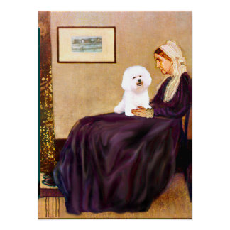Bichon Frise 1 -  Whistlers Mother Posters