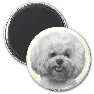 Bichon Frise 2 Inch Round Magnet