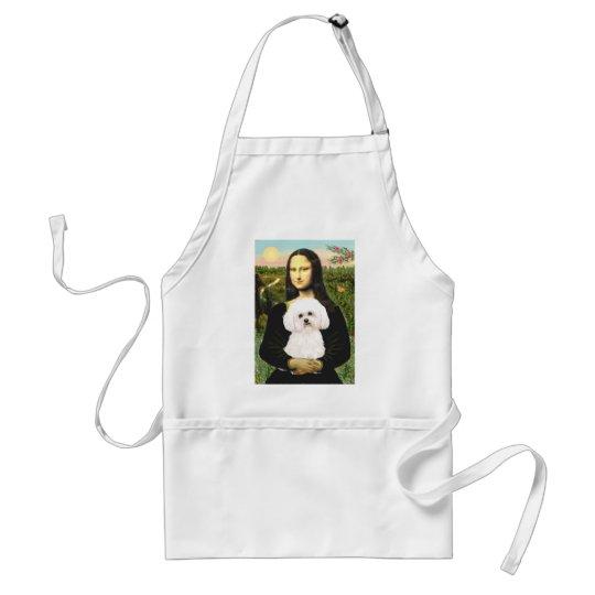 Bichon Frise 2R - Mona Lisa Adult Apron