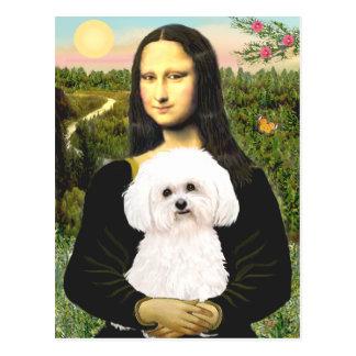 Bichon Frise 2R - Mona Lisa Postcard