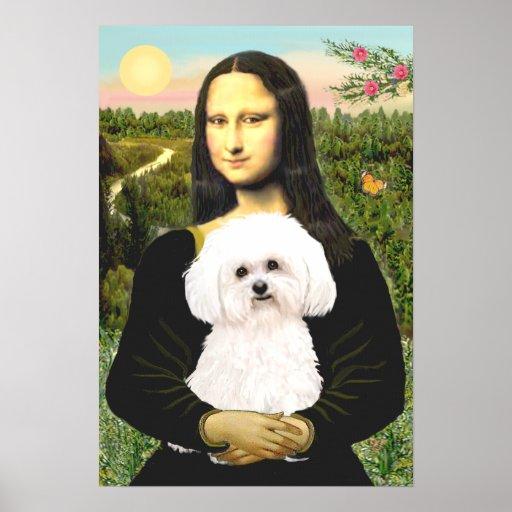 Bichon Frise 2R - Mona Lisa Poster