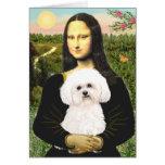 Bichon Frise 2R - Mona Lisa Tarjeta