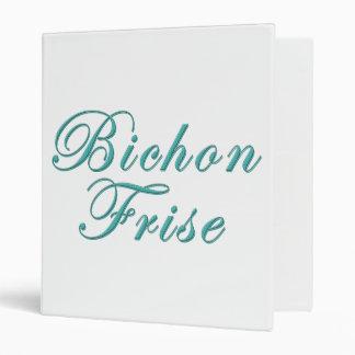 Bichon Frise 3 Ring Binders