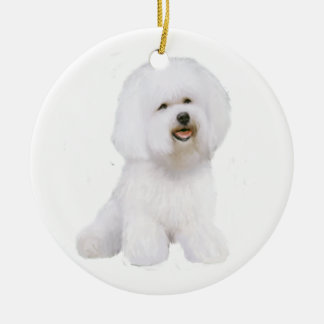 Bichon Frise (A) Ceramic Ornament