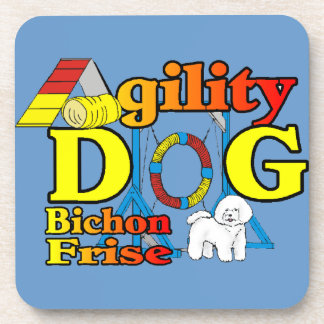 Bichon Frise Agility Drink Coaster