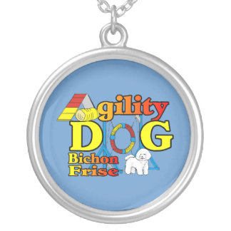 Bichon Frise Agility Silver Plated Necklace