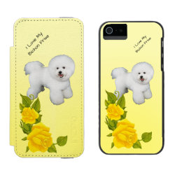 Incipio Watson™ iPhone 5/5s Wallet Case with Bichon Frise Phone Cases design