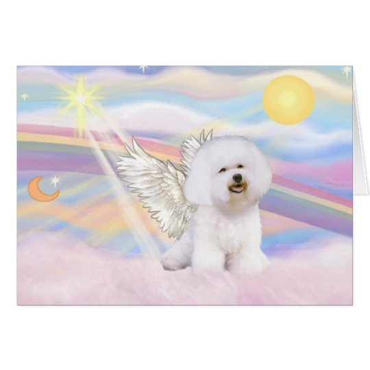 Bichon Frise Angel Card