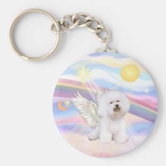 Bichon Frise Angel Keychain